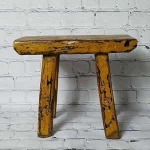 Rustic Pi Shape Stool